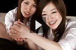 Office Ladies Ono Maria And Suda Natsuki Giving Handjob Together